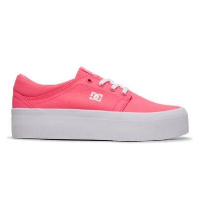 Zapatillas plataforma DC Shoes para mujer de lona TRASE Pink Ref. ADJS300184 rosa fucsia
