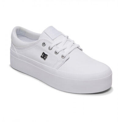 DC Shoes© Womens Trase Platform TX Shoe - Featuring a textile upper, mesh lining, and rounded out with a Vulcanized construction. These canvas flatform shoes for women join the line-up in the DC Shoes footwear collectio