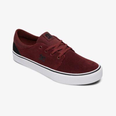 Zapatillas de piel ANTE DC SHOES para hombre TRASE SD Black/Dark/Red Ref. ADYS300172 Granate Blanca y gris
