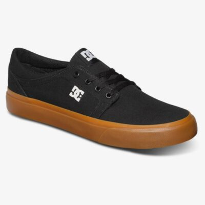 Zapatillas de lona DC SHOES para hombre TRASE TX Black/Gum Ref. ADYS300656 Negro/goma