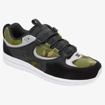 Zapatillas de cuero y gamuza DC SHOES para hombre KALIS LITE SE BLACK/CAMO PRINT (0cp) Ref. ADYS100382 Negra/Camuflaje