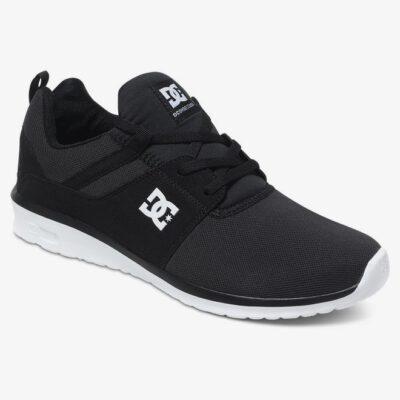 Zapatillas malla y ante DC SHOES para hombre HEATHROW BLACK/WHITE (bkw) Ref. ADYS700071 Negra y blanca