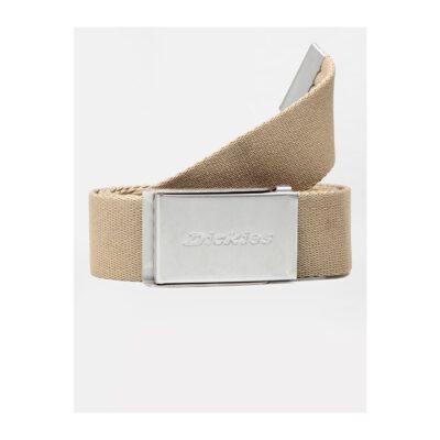 Cinturón Dickies Brookston básico clásico de estilo skate BROOKSTON Ref. DK0A4XBYBLK1 caqui