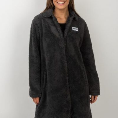 Chaqueta oversized VOLCOM Sherpa suave forrada para Mujer W Miller Jacket Ref. NKWJMIL charcoal Gris oscuro