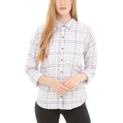 Camisa Mujer VANS Franela manga larga Brimms Flannel Ref. VN0A3UMLUUI1 Cuadros gris clara