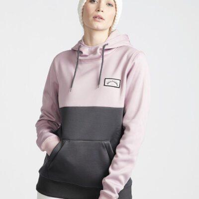 Sudadera BILLABONG con capucha para Mujer Outside Fever Block Iron mauve Ref. Q6SF02 lila malva/gris