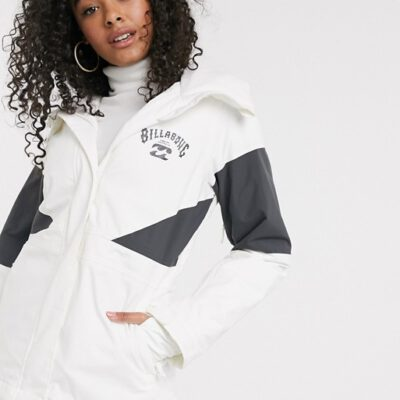 Anorak nieve BILLABONG con capucha mujer aislante mujer Say What Mauve SNOW Ref. Q6JF03 Blanca y gris