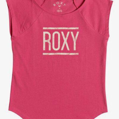 Camiseta ROXY niña manga corta heaven´s ref.ERGZT03267 rosa fucsia logo beige