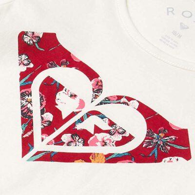Camiseta ROXY niña tirantes Endless music print c (wbko) Ref. ERGZT03587 blanco roto logo rosa