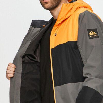 Chaqueta nieve QUIKSILVER con capucha para aislante hombre Sycamore IRON GATE (kzm0) Ref. EQYTJ03286 gris/naranja