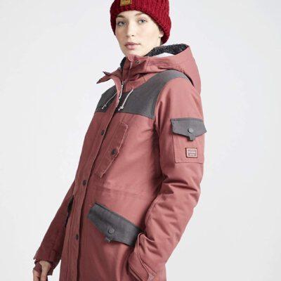 Anorak nieve BILLABONG con capucha para mujer Scenic Route Vintage plum Ref. Q6JF10 granate