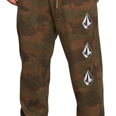 Pantalón chándal VOLCOM hombre de forro jogger DEADLY STONES - camo Ref. A1231802 camuflaje logos pierna