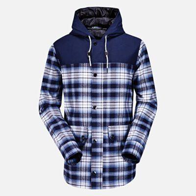 Chaqueta invierno Hombre VOLCOM con capucha 2x4 Jacket Ref. G0151403 cuadros azules/blancos