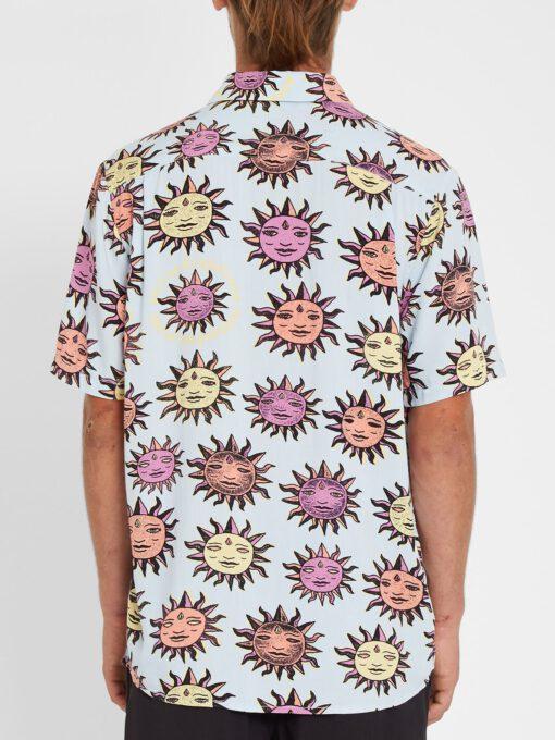 Camisa VOLCOM Manga Corta para Hombre llamativa OZZY SUN - AETHER BLUE Ref. A0412111 Azul flores Nueva Colección