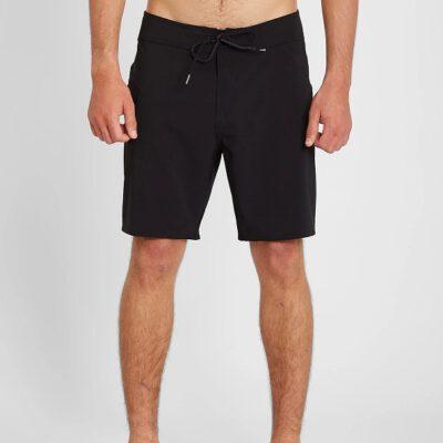 """Bañador VOLCOM corto para Hombre cintura elástica BOARDSHORT LIDO SOLID MOD 18"""" - BLACK Ref. A0812122 negro Nueva Colección"""