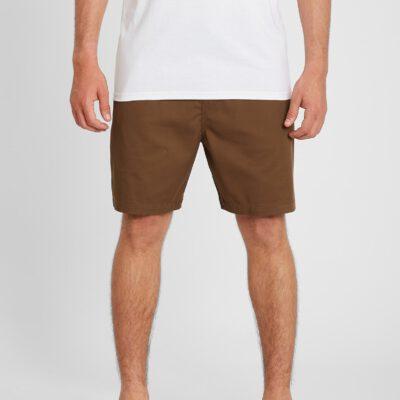 Pantalón corto VOLCOM bermudas cintura elástica Hombre SUBSTANCE - VINTAGE BROWN Ref. A1012103_VBN marrón Nueva colección