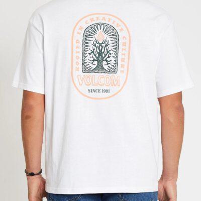 Camiseta Hombre VOLCOM manga corta ROOTSY T-SHIRT - WHITE Ref. A4312108 Blanca cultura creativa