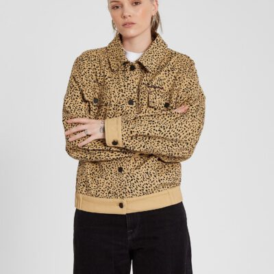 Chaqueta VOLCOM Corte boxy Mujer CHAQUETA HIGH WIRED - ANIMAL PRINT Ref. B1512103_ANM leopardo Nueva Colección