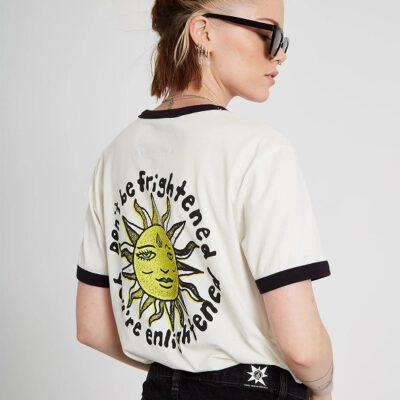 Camiseta corta VOLCOM Mujer manga corta OZZY RINGER - STAR WHITE Ref. B3512106_SWH blanca Sol Nueva Colección