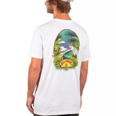 Camiseta Hombre BILLABONG manga corta Save Billys Point WHITE Ref. M4043BBP blanca loros Nueva colección