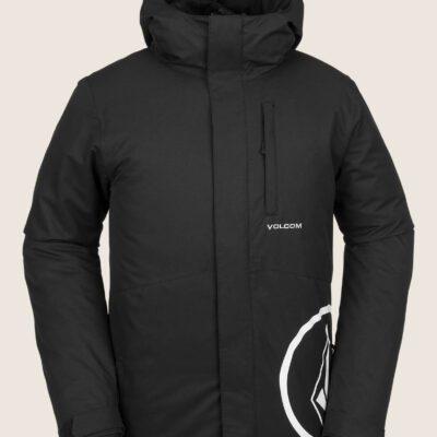 Chaqueta invierno Hombre VOLCOM con capucha 17 FORTY INSULATED JACKET Ref. G0451908 negra/logo blanco