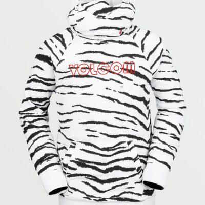 Sudadera VOLCOM de forro polar técnica con capucha HYDRO RIDING-WHITE TIGER Ref. G4152101 blanca tigre