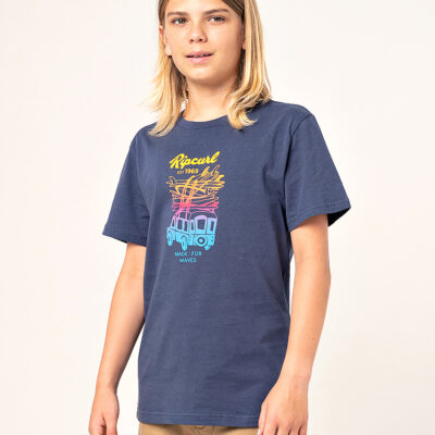Camiseta RIP CURL Niño manga corta surfera Truckito Boy Navy Ref. KTEYD4 Azul furgoneta Surf