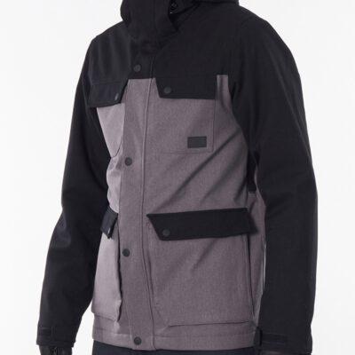 Chaqueta nieve Rip Curl hombre con capucha cálida Cabin Snow Jacket grey Ref. SCJDV4 gris/negra