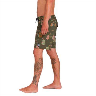 Bañador VOLCOM corto para Hombre con cintura elástica TRONCOS ALIENADOS - MOSSSTONE Ref. A2512003 Ozzy Wrong verde