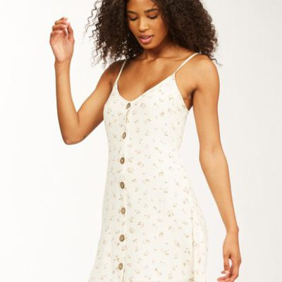 Vestido corto BILLABONG tirantes para mujer Swett For Ya SALT CRYSTAL (4194) Ref. ABJWD00243 flores blanco Nueva colección 2021