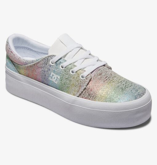 Zapatillas plataforma DC Shoes para mujer de lona TRASE PLATFORM WHITE/RAINBOW (trw) Ref. ADJS300269 ARCOÍRIS New