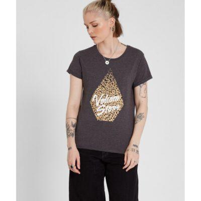 Camiseta VOLCOM Mujer manga corta FRADICAL DAZE SS Ref. B3512115-chr gris diamante leopardo Nueva Colección