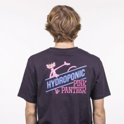 Camiseta HYDROPONIC Niño divertida manga corta T-SHIRT PINK SHOW BLACK Ref. 21003Y-02 Pantera rosa Negra