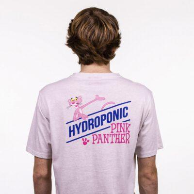 Camiseta HYDROPONIC Hombre divertida manga corta T-SHIRT PINK SHOW VINTAGE WHITE Ref. 21003-01 Pantera rosa Blanca