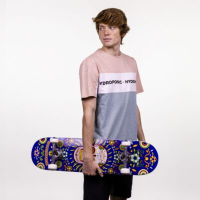 Camiseta HYDROPONIC Hombre divertida manga corta T-SHIRT SHELDON ROSE / WHITE / BLUE HAZE Ref. 21029-01 tricolor