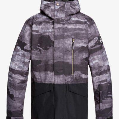 Chaqueta nieve QUIKSILVER con capucha para aislante hombre Mission BLACK MATTE PAINTING (kvm9) Ref. EQYTJ03237 pintura negra