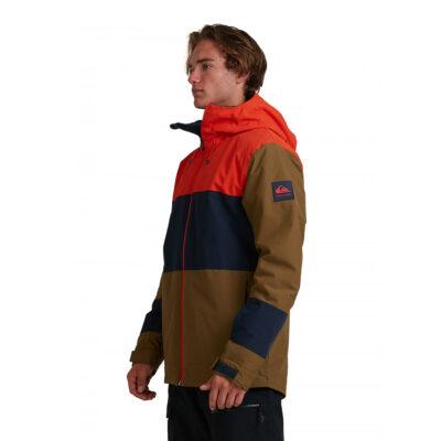 Chaqueta nieve QUIKSILVER con capucha para aislante hombre Sycamore MILITARY OLIVE (cqw0) Ref. EQYTJ03286 caqui/marino/naranja