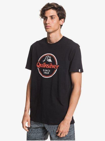 Camiseta Hombre QUIKSILVER manga corta Words Remain REDWOOD BLACK (kvj0) Ref. EQYZT05753 negro logo pecho
