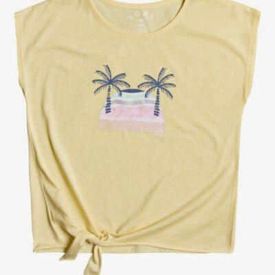 Camiseta ROXY niña manga corta Pura Playa PALE BANANA (ydz0) B Ref. ERGZT03769 amarilla Nueva Colección