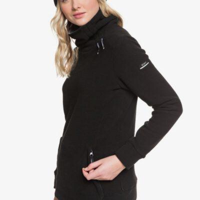Sudadera Nieve ROXY Técnica con Cuello Alto para Mujer Deltine SpinDye® TRUE BLACK (kvj0) Ref. ERJFT04010 negra