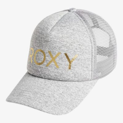 Gorra con visera ROXY Soulrocker - Gorra Trucker para Mujer HERITAGE HEATHER (sgrh) Ref. ERJHA03676 gris logo dorado