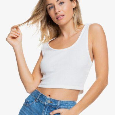 Camiseta Top ROXY Tirantes punto acanalado Mujer Spring Getaway SNOW WHITE (wbk0) Ref. ERJKT03764 blanca