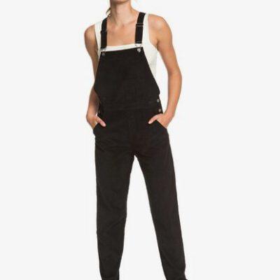 Pantalón ROXY de peto de pana para Mujer Anywhere Else ANTHRACITE (kvj0) Ref. ERJWD03497 negro pana