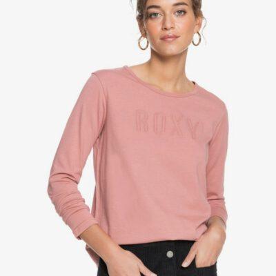 Camiseta Mujer ROXY manga larga Red Sunset MOOD INDIGO (bsp0) Ref. ERJZT05046 rosa palo logo bordado