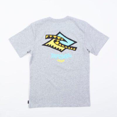 Camiseta RIP CURL Niño manga corta surfera Check Diamond Tee Grey Marle Ref. KTEZV9 Cuadros con diamantes gris