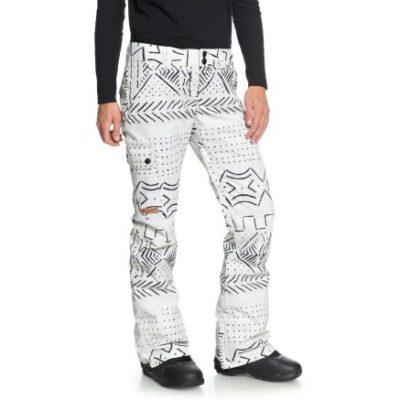 Pantalón nieve DC Shoes snowboard resistente para Mujer RECRUIT (wej6) Ref. EDJTP03019 blanco y negro étnico