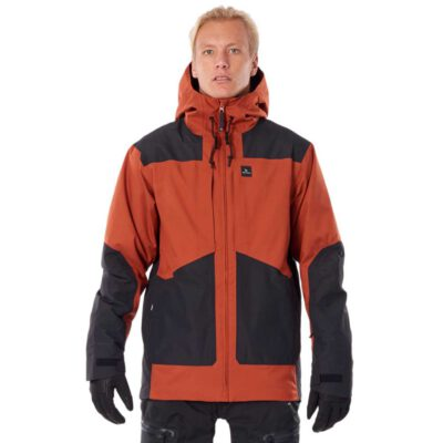Chaqueta nieve Rip Curl hombre con capucha cálida Pow Search Snow Jacket arabian spice Ref. SCJDT4 naranja/negra
