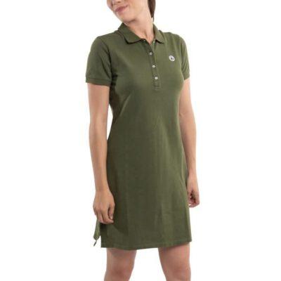 Vestido Polo manga corta Jott de Mujer VENISE 9924/204 KAKI BASIC Justoverthetop verde caqui