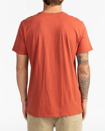 Camiseta Hombre BILLABONG manga corta con bolsillo pecho Stacked DEEP RED (0578) Ref. U1SS98BIF0 roja