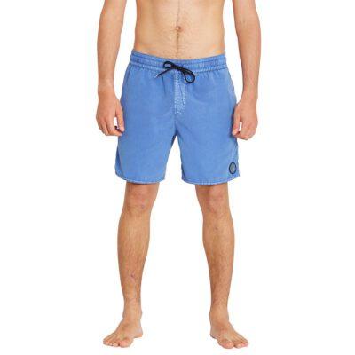 """Bañador VOLCOM corto para Hombre BOARDSHORT CENTER TRUNK 17"""" - BALLPOINT BLUE Ref. A2512004_BPB azul Nueva Colección"""